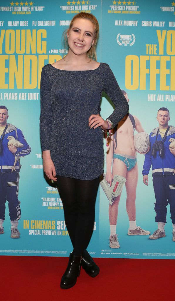 Natalie Finnegan at the Irish premiere screening of The Young Offenders at Cineworld, Dublin (Photo by Brian McEvoy).