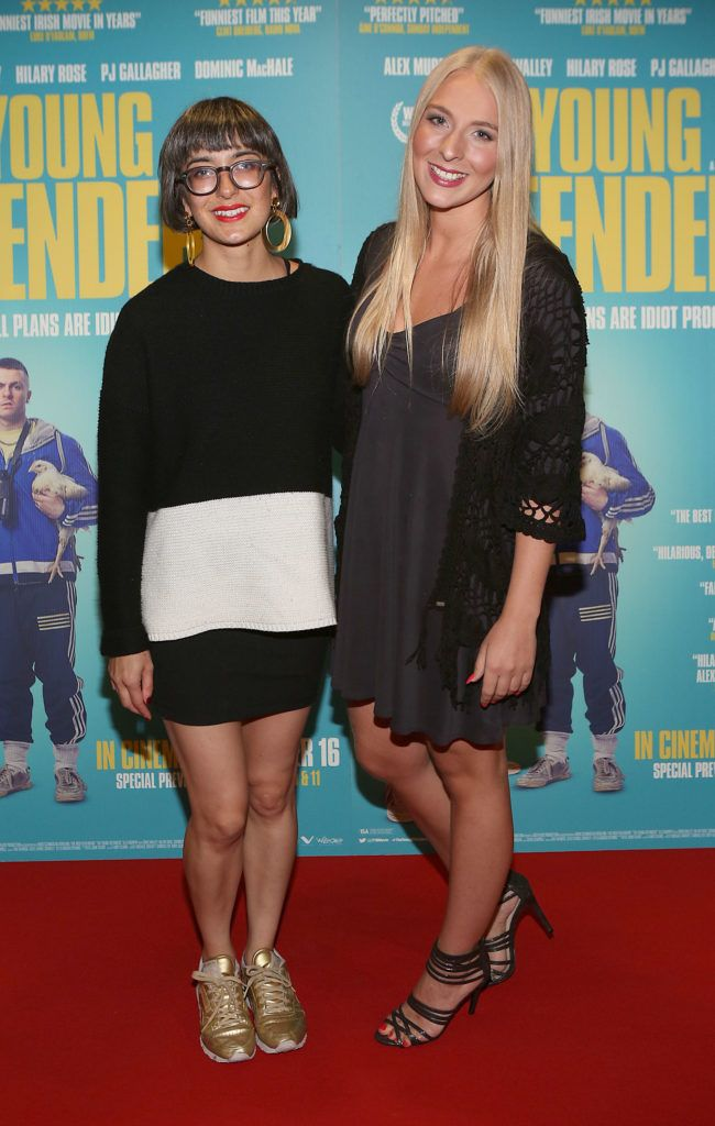 Suri Grennell and Hilary Johnson at the Irish premiere screening of The Young Offenders at Cineworld, Dublin (Photo by Brian McEvoy).