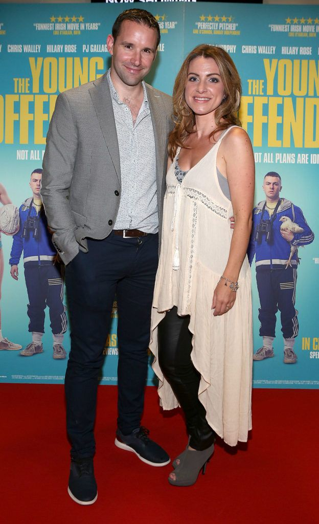 Darragh Sheehy and Evelyn Sheehy at the Irish premiere screening of The Young Offenders at Cineworld, Dublin (Photo by Brian McEvoy).