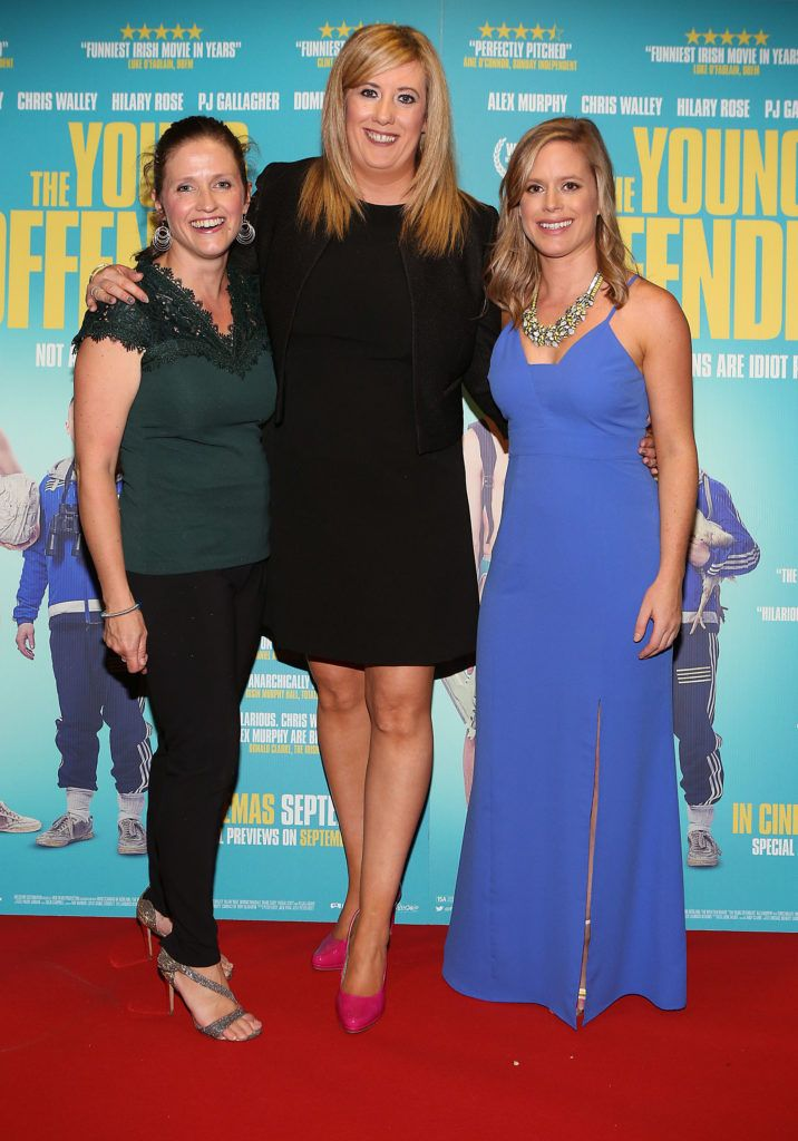 Noelle McDaid ,Sinead Duffy and Julie Ryan at the Irish premiere screening of The Young Offenders at Cineworld, Dublin (Photo by Brian McEvoy).