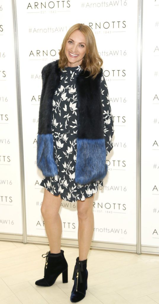 Ingrid Hoey  at the launch of Peter O Brien for Arnotts collection and the Arnotts Autumn Winter 2016 launch (Photo by Kieran Harnett).