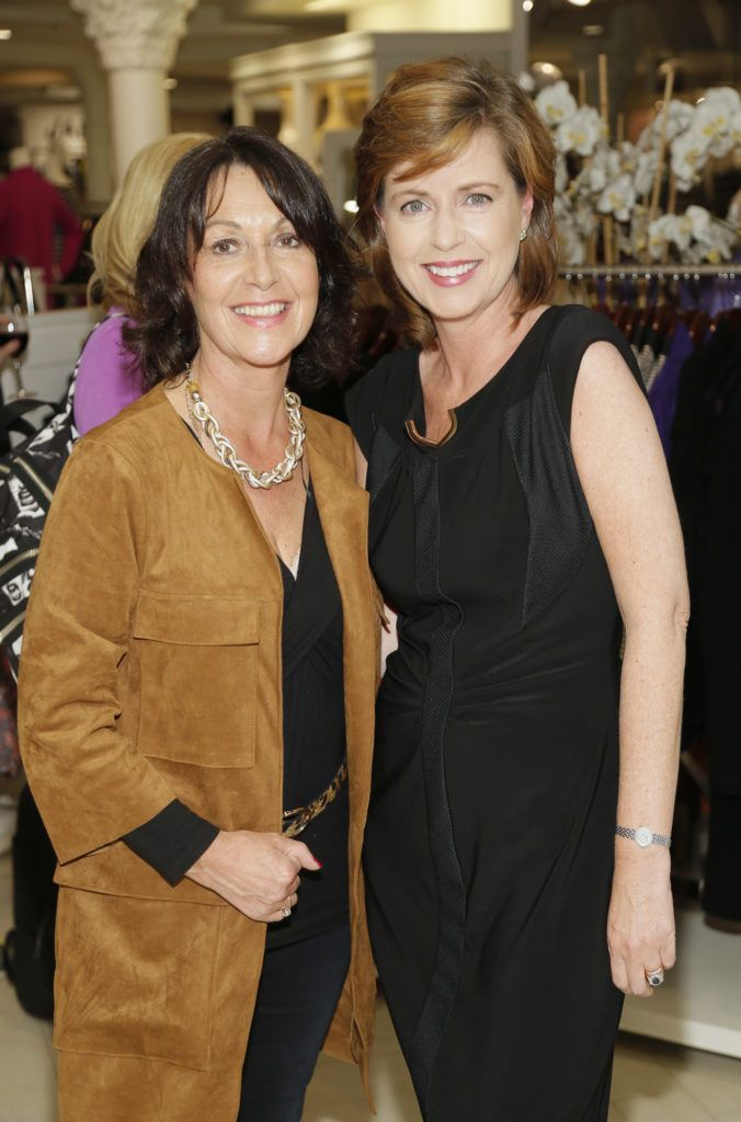 Kay Fennell and Susan O'Dwyer  at the launch of Peter O Brien for Arnotts collection and the Arnotts Autumn Winter 2016 launch (Photo by Kieran Harnett).