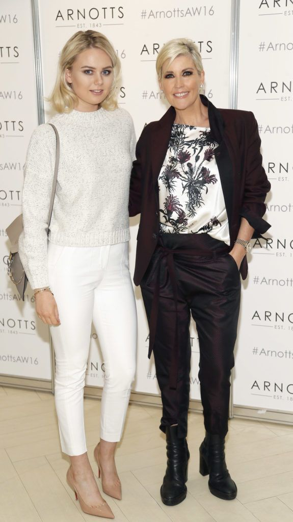 Lauren McDonald and Lisa Fitzpatrick  at the launch of Peter O Brien for Arnotts collection and the Arnotts Autumn Winter 2016 launch (Photo by Kieran Harnett).