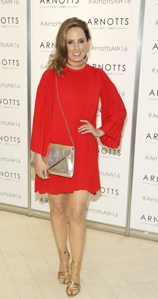 Aoibheann McCaul  at the launch of Peter O Brien for Arnotts collection and the Arnotts Autumn Winter 2016 launch (Photo by Kieran Harnett).