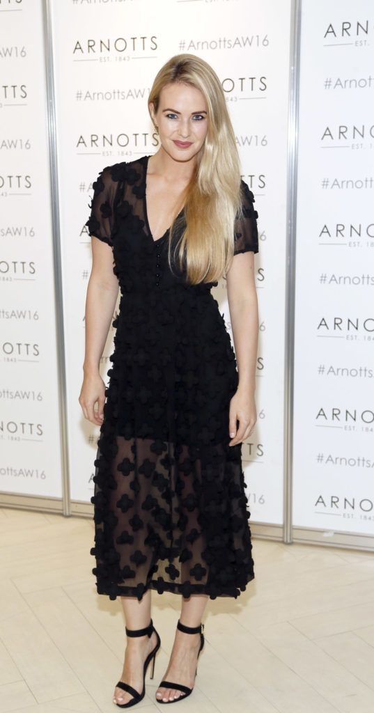 Aoibhin Garrihy  at the launch of Peter O Brien for Arnotts collection and the Arnotts Autumn Winter 2016 launch (Photo by Kieran Harnett).