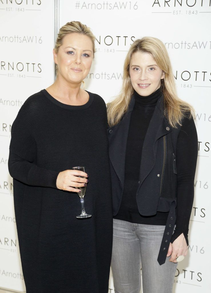 Barbara Meade and Alex Donald  at the launch of Peter O Brien for Arnotts collection and the Arnotts Autumn Winter 2016 launch (Photo by Kieran Harnett).