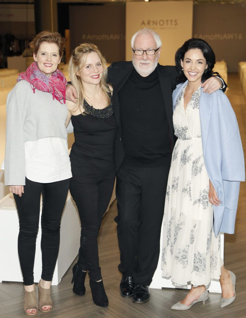 Caoimhe O'Malley, Tara Egan Langley, Peter O'Brien and Ruth McGill  at the launch of Peter O Brien for Arnotts collection and the Arnotts Autumn Winter 2016 launch (Photo by Kieran Harnett).