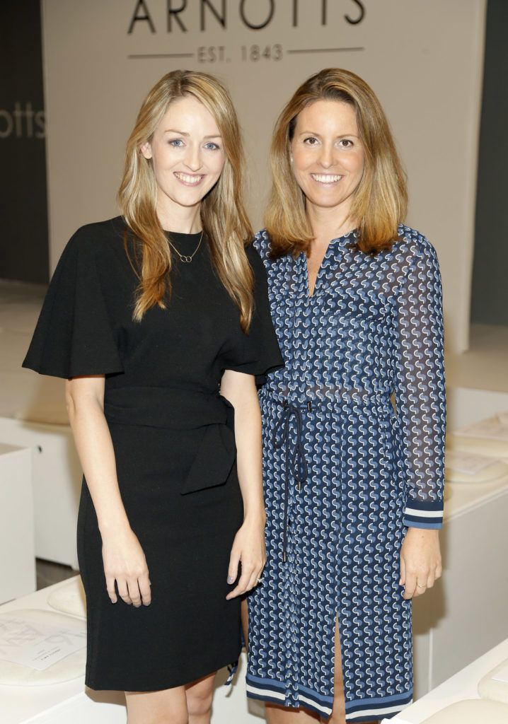Natalie Burke and Sarah Williams  at the launch of Peter O Brien for Arnotts collection and the Arnotts Autumn Winter 2016 launch (Photo by Kieran Harnett).