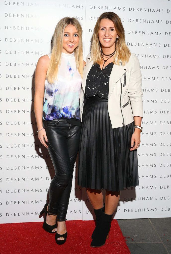 Pictured are Cara McAllister and Karen Nason as Debenhams showcased their AW16 collection last night in the stunning back drop of Christ Church Catherdral. Guests sipped on Mc Guigan Frizzante as 1st Options Model took to the Crypt catwalk for a show styled by top stylist Sonja Mohlich. Pic: Marc O'Sullivan