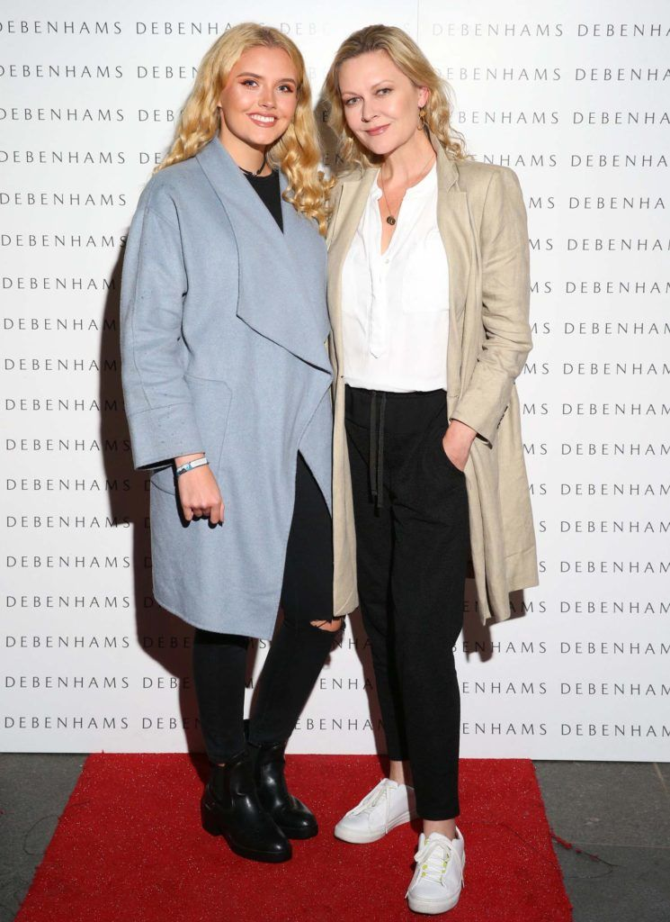Pictured are Rosie Scully and Laura Bermingham as Debenhams showcased their AW16 collection last night in the stunning back drop of Christ Church Catherdral. Guests sipped on Mc Guigan Frizzante as 1st Options Model took to the Crypt catwalk for a show styled by top stylist Sonja Mohlich. Pic: Marc O'Sullivan