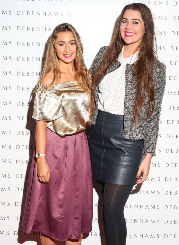 Pictured are Nicky Dunne and Kate Power as Debenhams showcased their AW16 collection last night in the stunning back drop of Christ Church Catherdral. Guests sipped on Mc Guigan Frizzante as 1st Options Model took to the Crypt catwalk for a show styled by top stylist Sonja Mohlich. Pic: Marc O'Sullivan