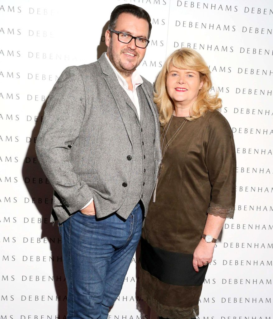 Pictured are Clyde Carroll and Liz Doyle as Debenhams showcased their AW16 collection last night in the stunning back drop of Christ Church Catherdral. Guests sipped on Mc Guigan Frizzante as 1st Options Model took to the Crypt catwalk for a show styled by top stylist Sonja Mohlich. Pic: Marc O'Sullivan