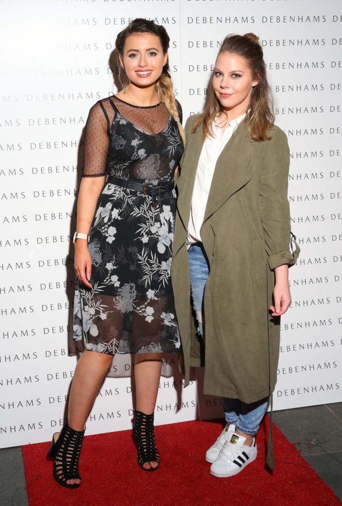 Pictured are Rachel Morton and Kellie Masterson as Debenhams showcased their AW16 collection last night in the stunning back drop of Christ Church Catherdral. Guests sipped on Mc Guigan Frizzante as 1st Options Model took to the Crypt catwalk for a show styled by top stylist Sonja Mohlich. Pic: Marc O'Sullivan