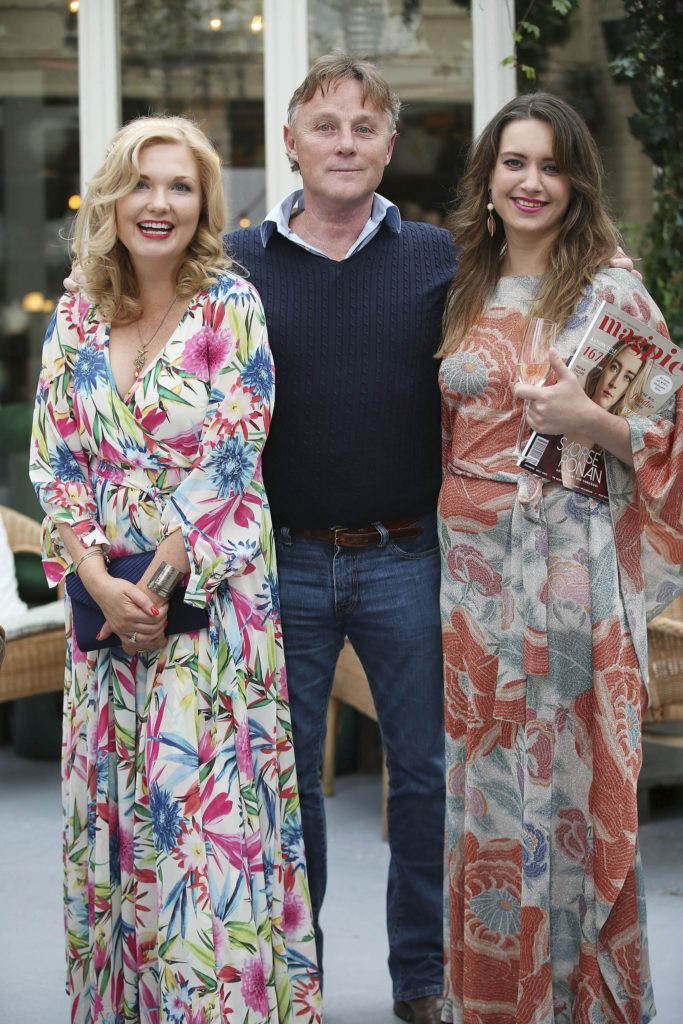 Georgina Heffernan with Conal Gallagher and Joanne O'Brien, pictured at the launch of MAGPIE MAGAZINE held in House, Lesson Street, Dublin.   Pic. Conor McCabe Photography