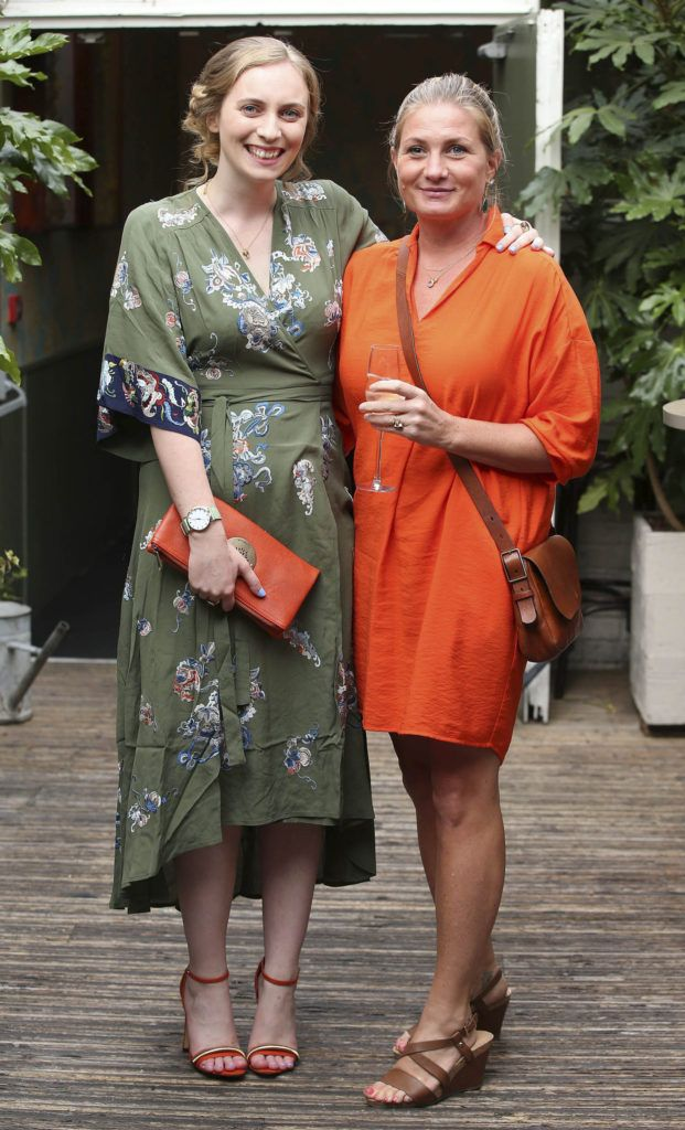 Deirdre Fitzpatrick and Julie Danz, pictured at the launch of MAGPIE MAGAZINE held in House, Lesson Street, Dublin.   Pic. Conor McCabe Photography