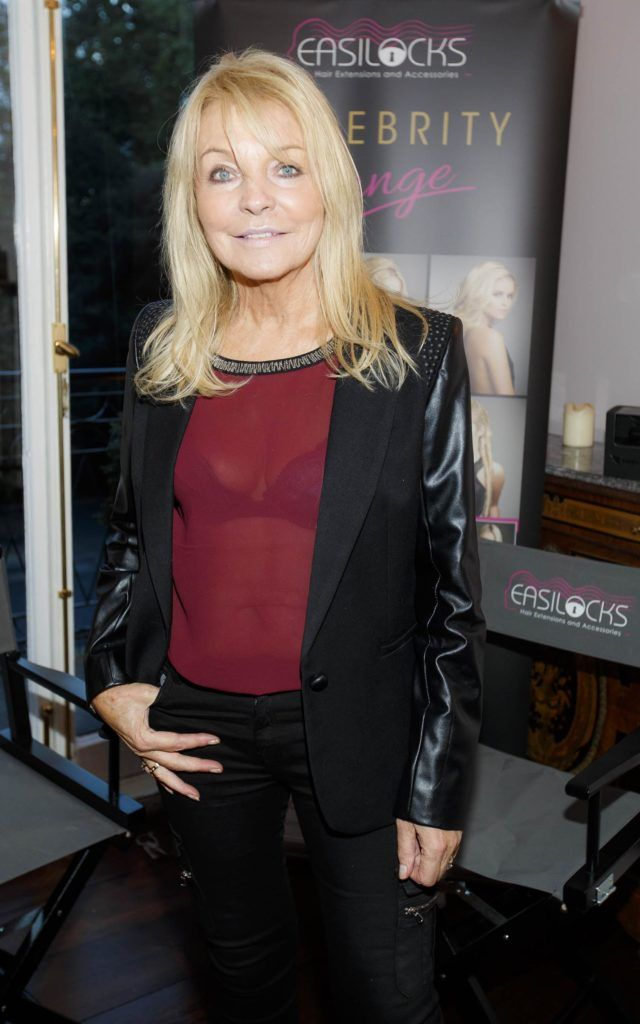 Jackie Lavin pictured at the launch of Easilocks Home Care Range in the Cliff Townhouse, Dublin. Previously only available in Salons Easilocks will now be available in pharmacies nationwide. Picture Andres Poveda