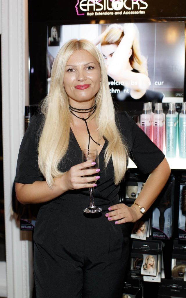 Niamh Murray pictured at the launch of Easilocks Home Care Range in the Cliff Townhouse, Dublin. Previously only available in Salons Easilocks will now be available in pharmacies nationwide. Picture Andres Poveda
