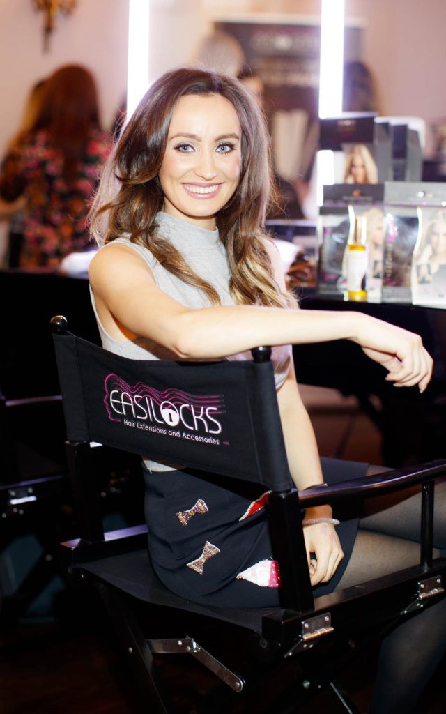 Sinéad De Butléir pictured at the launch of Easilocks Home Care Range in the Cliff Townhouse, Dublin. Previously only available in Salons Easilocks will now be available in pharmacies nationwide. Picture Andres Poveda