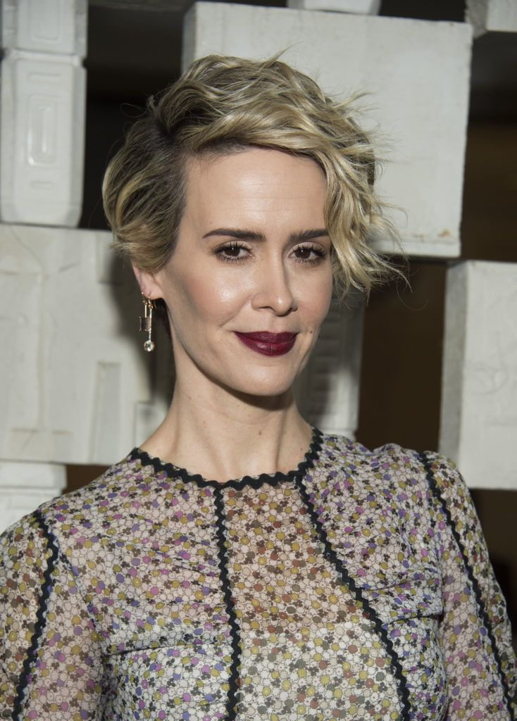Actress Sarah Paulson attends the Hammer Museum Gala in the Garden honoring Laurie Anderson and Todd Haynes, in Westwood, California, on October 8, 2016. (Photo VALERIE MACON/AFP/Getty Images)