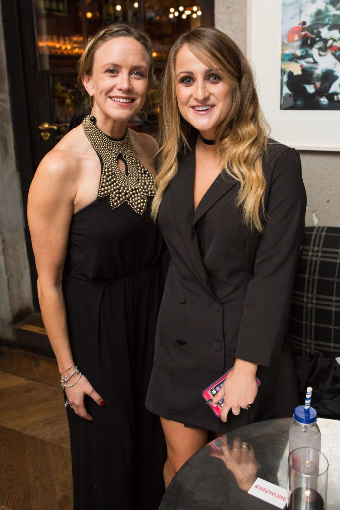 Aoife Kelly and Justine King enjoying Highline at Sophie's in The Dean, a New York Late Night Vibe in Dublin's only rooftop venue. Photo by Richie Stokes