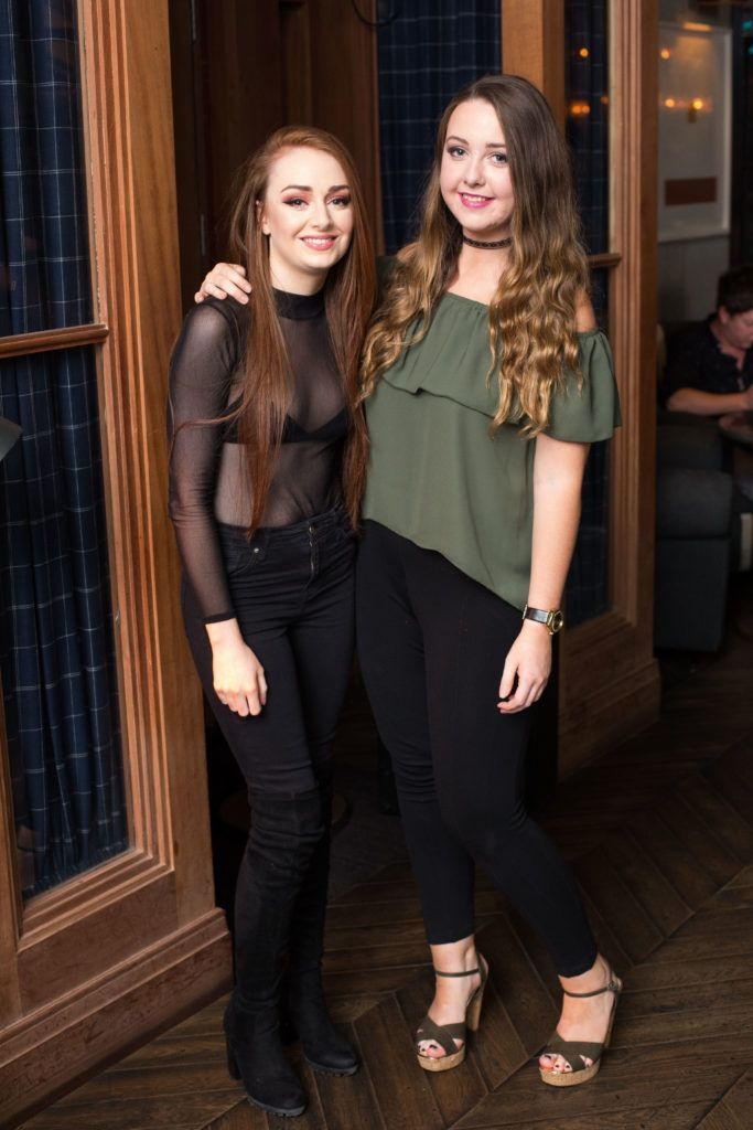 Sarah Lynch and Rachel Keogh enjoying Highline at Sophie's in The Dean, a New York Late Night Vibe in Dublin's only rooftop venue. Photo by Richie Stokes