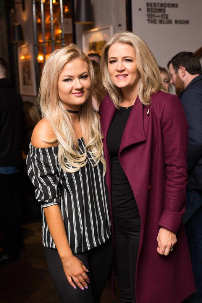 Kelly Doyle and Elaine O ' Reilly enjoying Highline at Sophie's in The Dean, a New York Late Night Vibe in Dublin's only rooftop venue. Photo by Richie Stokes
