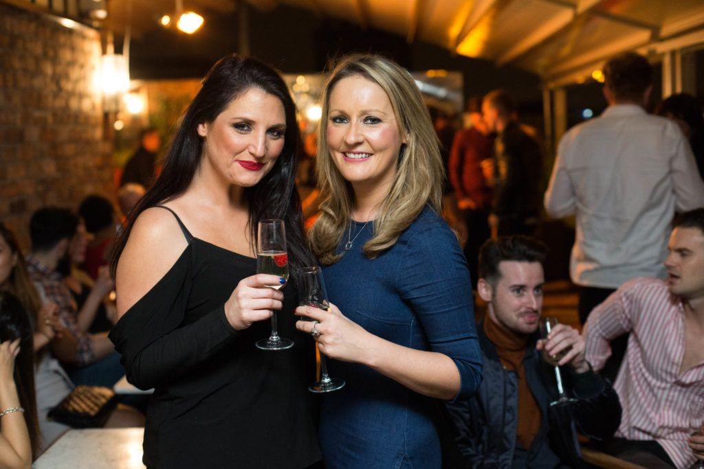 Triona Byrne and Graine Murphy enjoying Highline at Sophie's in The Dean, a New York Late Night Vibe in Dublin's only rooftop venue. Photo by Richie Stokes