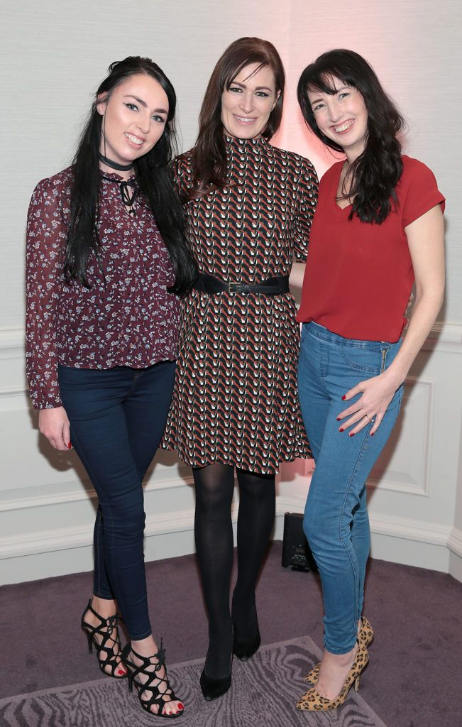 Eileen Sutton, Stacey Woodhead and Clodagh Kenny at the Lancome Christmas Celebration at the Westbury Hotel, Dublin (Pictures: Brian McEvoy).