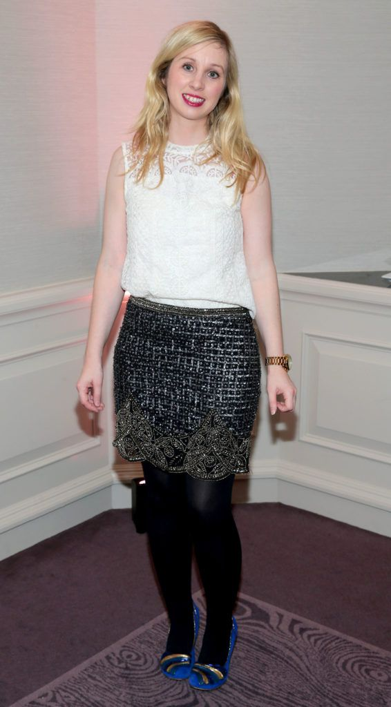 Claire Hyland at the Lancome Christmas Celebration at the Westbury Hotel, Dublin (Pictures: Brian McEvoy).