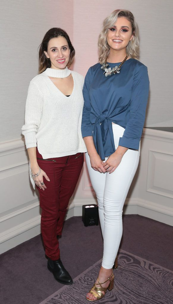 Kassi Cheirogeorgou and Rachel Begley at the Lancome Christmas Celebration at the Westbury Hotel, Dublin (Pictures: Brian McEvoy).