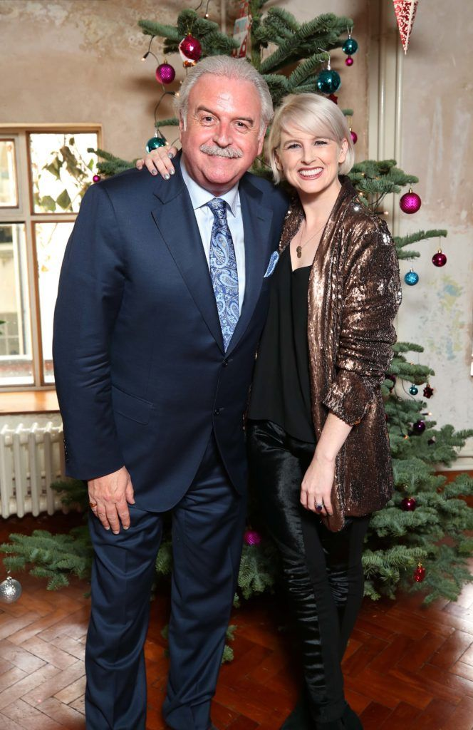 Marty Whelan and Sinead Kennedy, pictured at the National Lottery Christmas Lunch held in the Drury Buildings, Dublin. Pic. Robbie Reynolds