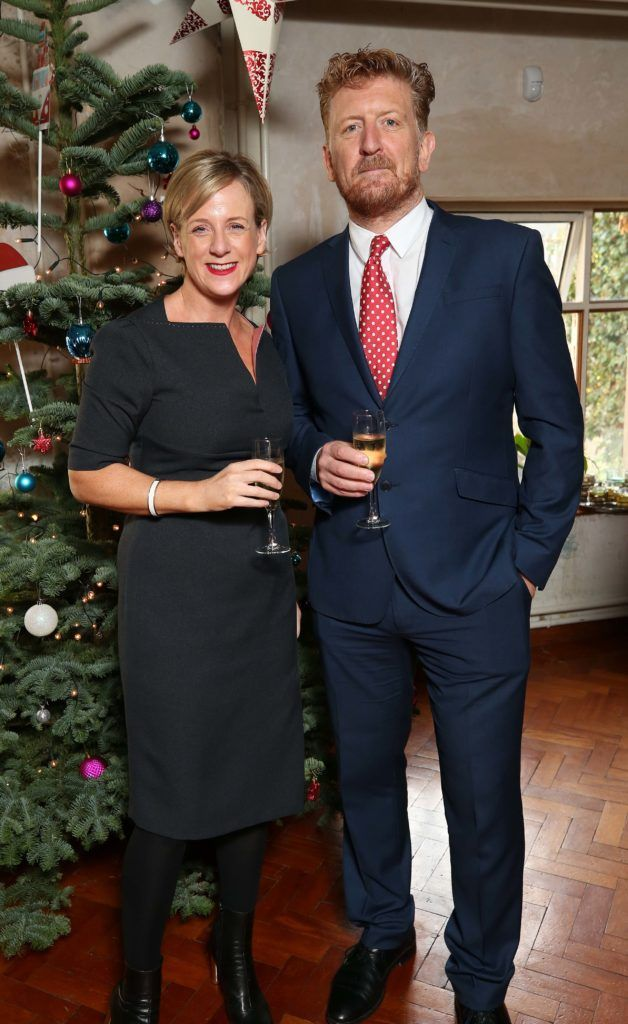 Sybil Mulcahy and Garrett Brennan, pictured at the National Lottery Christmas Lunch held in the Drury Buildings, Dublin. Pic. Robbie Reynolds