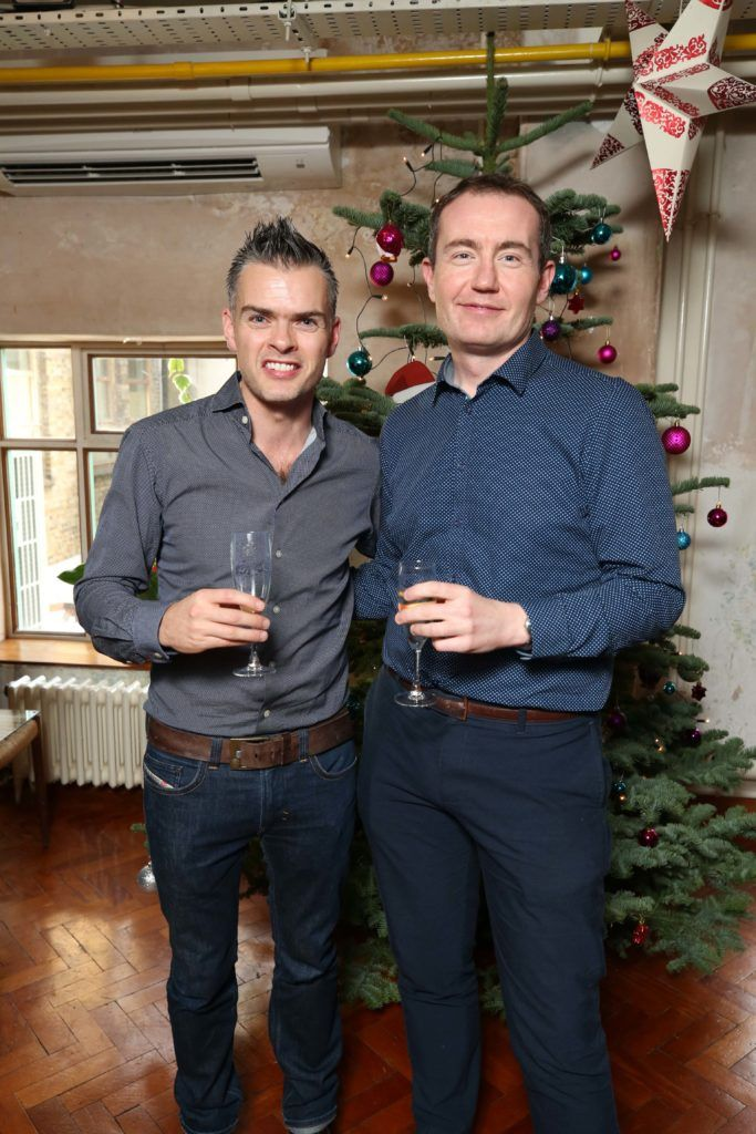 Neil McDermott and Eamonn Hoban Shelley, pictured at the National Lottery Christmas Lunch held in the Drury Buildings, Dublin. Pic. Robbie Reynolds