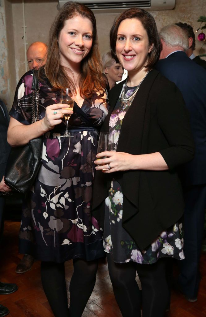 Aisling O'Sullivan and Nuala Kane, pictured at the National Lottery Christmas Lunch held in the Drury Buildings, Dublin. Pic. Robbie Reynolds
