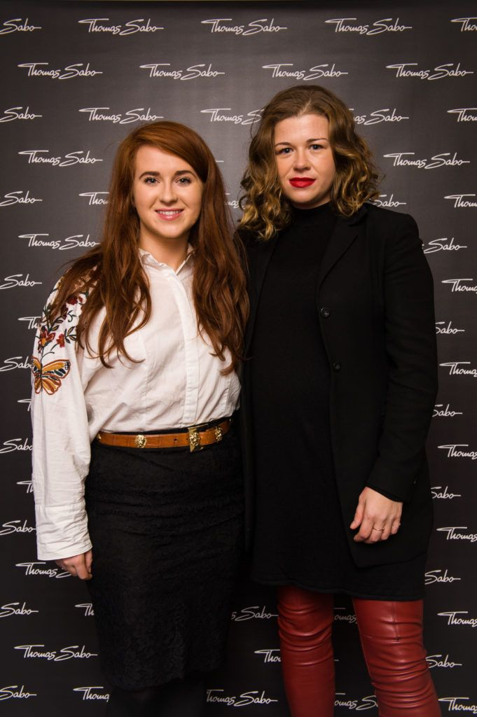 Kate Kelly and Táine King pictured at the Thomas Sabo Spring Summer 2017 collection presentation at The Westbury Hotel, Grafton St on Tuesday 13th Dec. 2016. Photo by Kevin Mcfeely