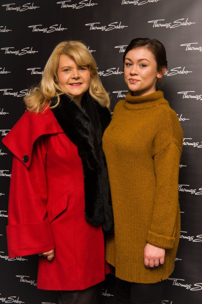 Liz Doyle and Aoife Carton pictured at the Thomas Sabo Spring Summer 2017 collection presentation at The Westbury Hotel, Grafton St on Tuesday 13th Dec. 2016. Photo by Kevin Mcfeely