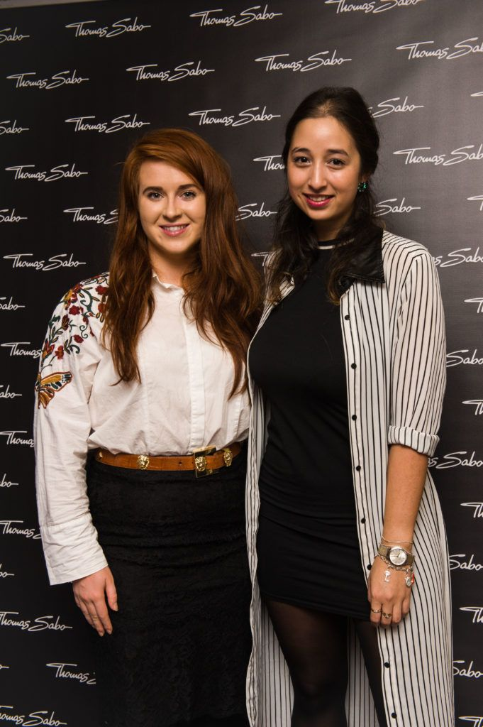 Kate Kelly and Nirina Plunkett pictured at the Thomas Sabo Spring Summer 2017 collection presentation at The Westbury Hotel, Grafton St on Tuesday 13th Dec. 2016. Photo by Kevin Mcfeely