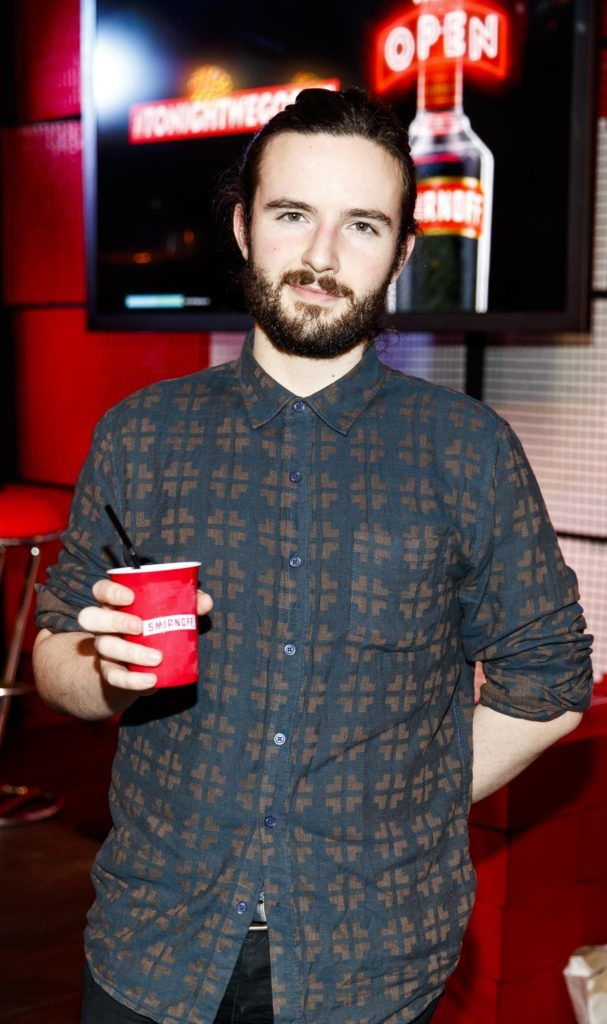 Eoin O'Regan pictured at the Smirnoff 'We're Open' event in Panti Bar in Dublin, hosted by Panti Bliss. Picture Andres Poveda