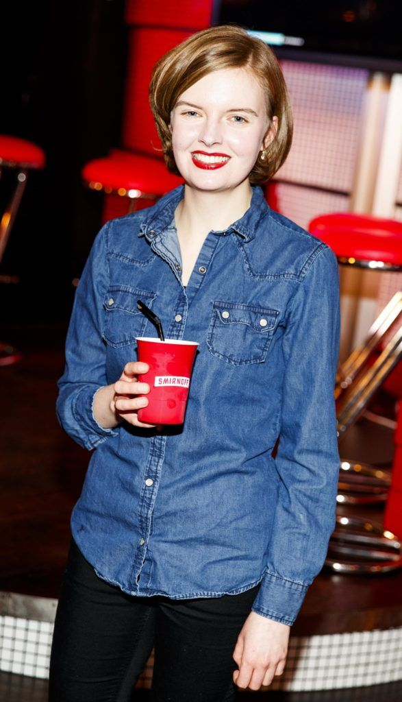 Amy Bond pictured at the Smirnoff 'We're Open' event in Panti Bar in Dublin, hosted by Panti Bliss. Picture Andres Poveda