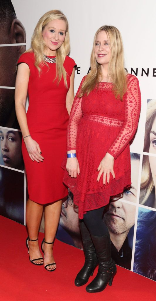 Lisa Shortt and Sinead Comerford at the Irish premiere screening of Will Smith's film Collateral Beauty at Cineworld, Dublin (Picture Brian McEvoy).