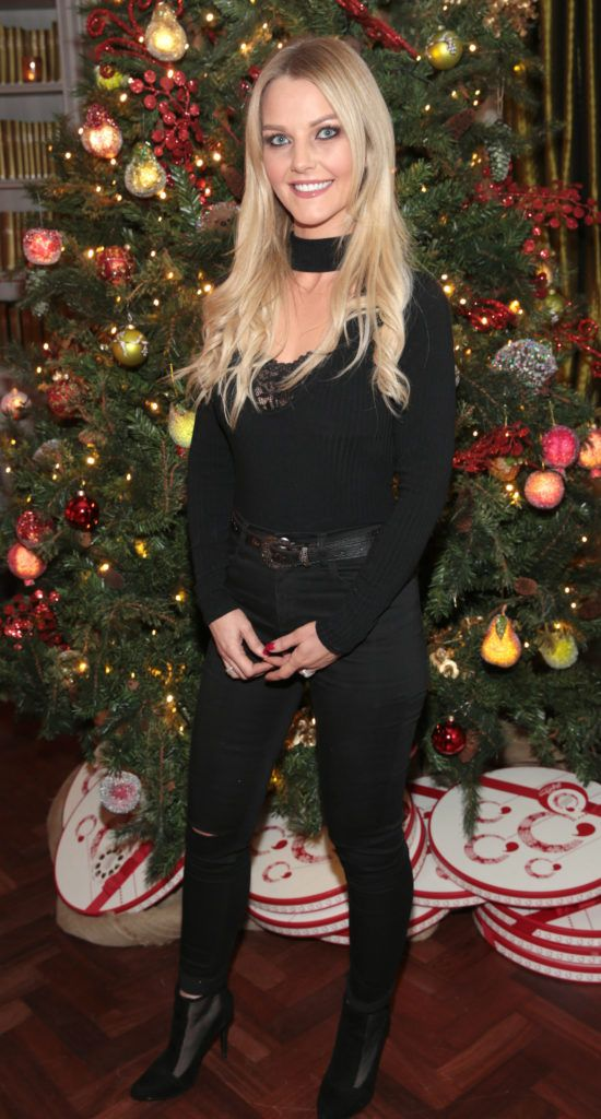 Jen Doyle   pictured at the Xpose Meaghers Pharmacy Festive Beauty Banquet at the Dylan Hotel ,Dublin. Picture:Brian McEvoy