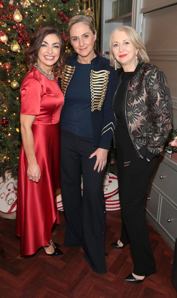 Oonagh O Hagan , Debbie O Donnell and Bairbre Power   pictured at the Xpose Meaghers Pharmacy Festive Beauty Banquet at the Dylan Hotel ,Dublin. Picture:Brian McEvoy