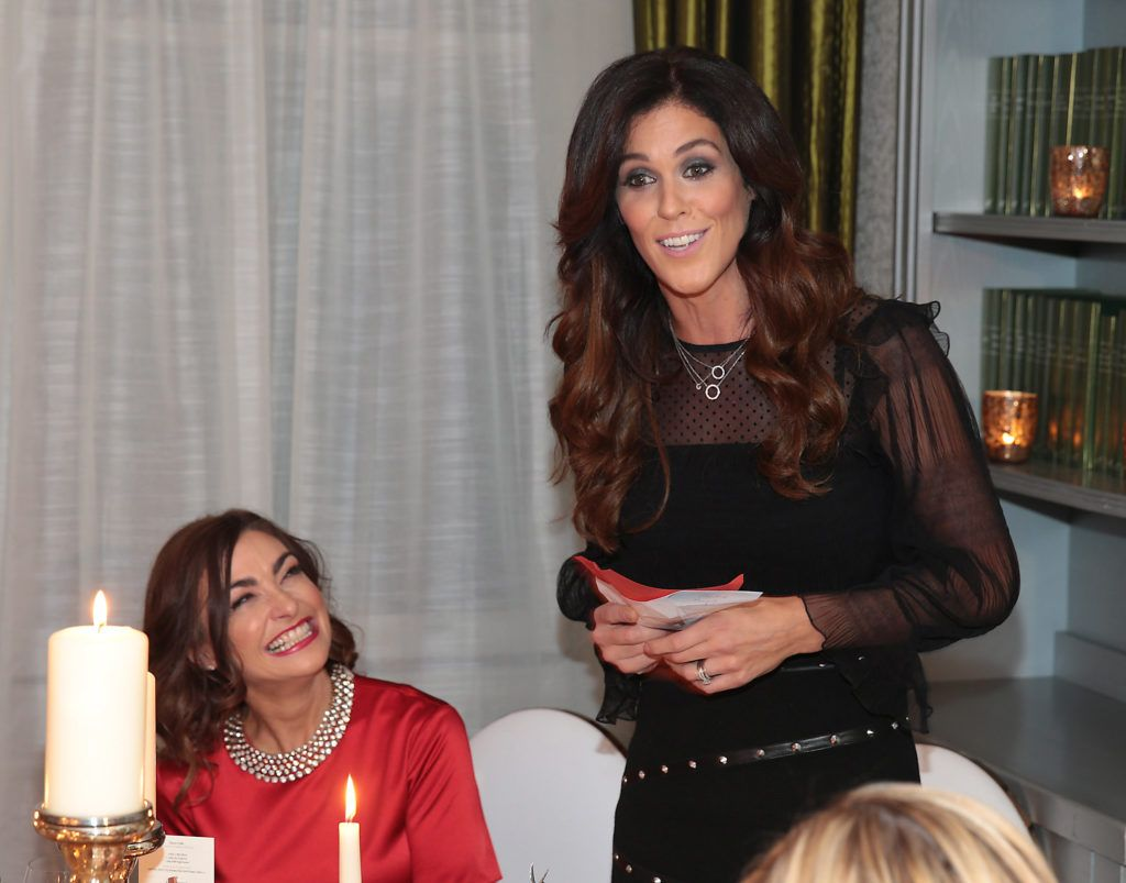 Glenda Gilson  pictured at the Xpose Meaghers Pharmacy Festive Beauty Banquet at the Dylan Hotel ,Dublin. Picture:Brian McEvoy