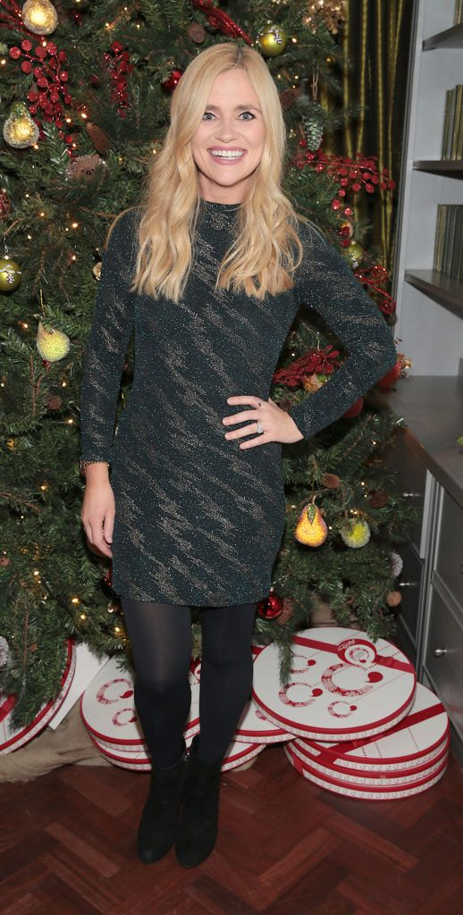 Karen Koster  pictured at the Xpose Meaghers Pharmacy Festive Beauty Banquet at the Dylan Hotel ,Dublin. Picture:Brian McEvoy