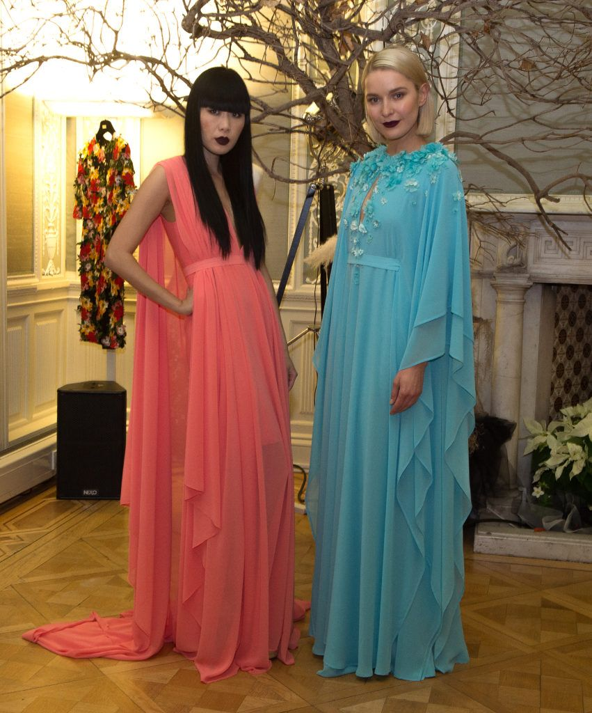 Models Yomiko Chen-Conway and Teodora Sutra,  pictured last night at the Umit Kutluk Spring/Summer 2017 preview.