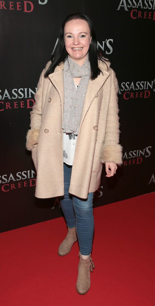 Sandra Newman pictured at the special preview screening of Assassin's Creed at the Savoy Cinema Dublin (Picture Brian McEvoy).