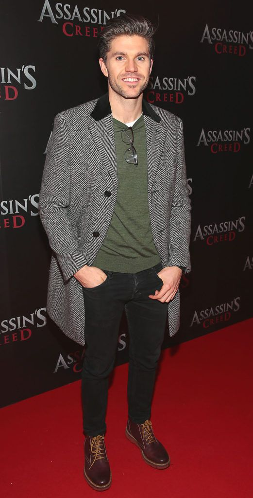 Darren Kennedy pictured at the special preview screening of Assassin's Creed at the Savoy Cinema Dublin (Picture Brian McEvoy).