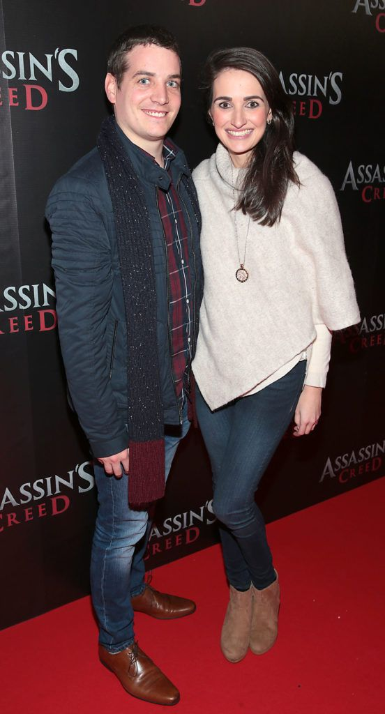 Sean Woods and Jessica Adamson pictured at the special preview screening of Assassin's Creed at the Savoy Cinema Dublin (Picture Brian McEvoy).