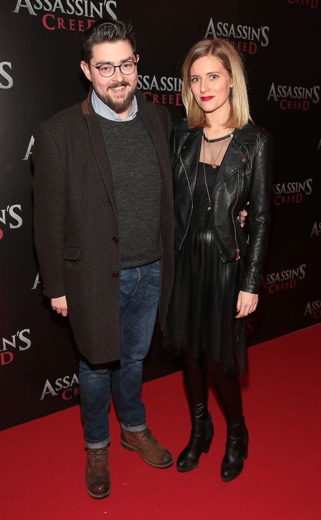 Sean Branigan and Amy De Bhrun pictured at the special preview screening of Assassin's Creed at the Savoy Cinema Dublin (Picture Brian McEvoy).
