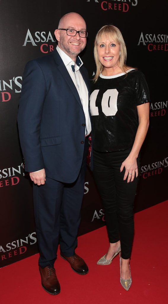 Wayne Kearns and Romy Carroll pictured at the special preview screening of Assassin's Creed at the Savoy Cinema Dublin (Picture Brian McEvoy).